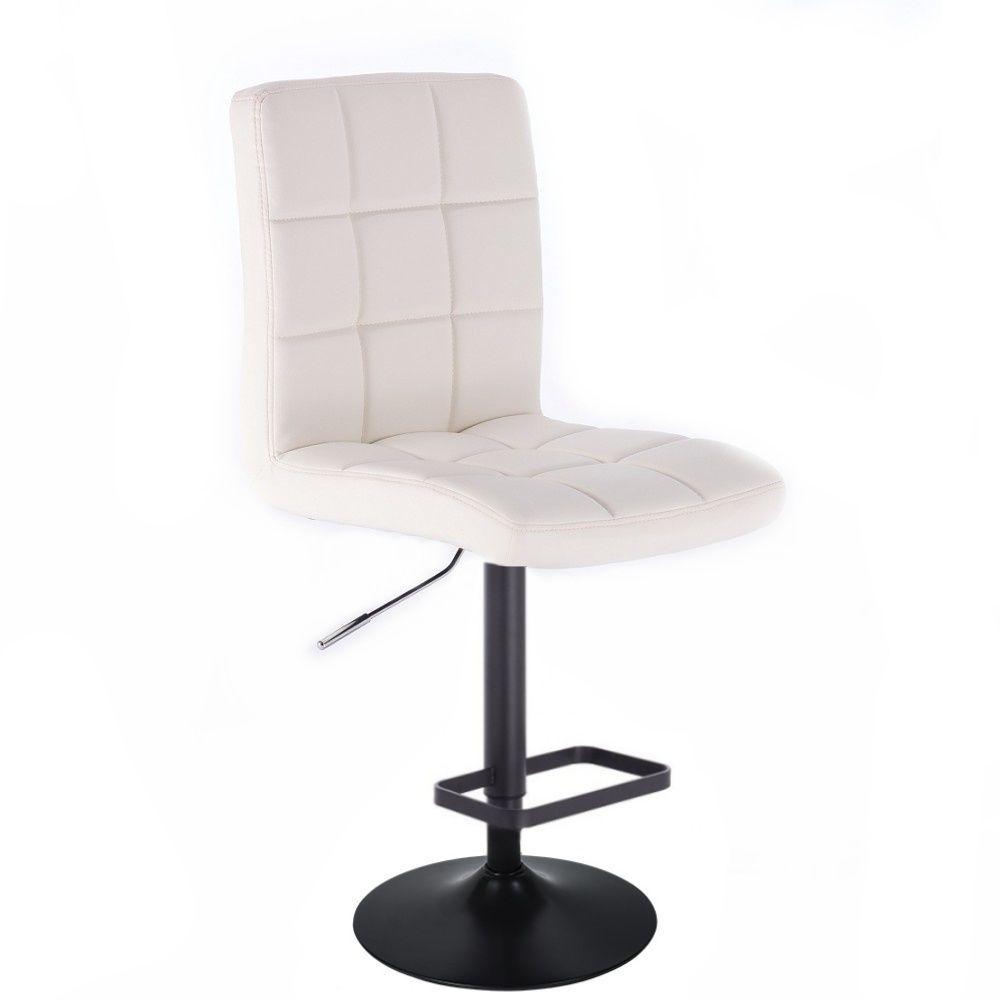 Barová židle TOLEDO na černém talíři - bílá