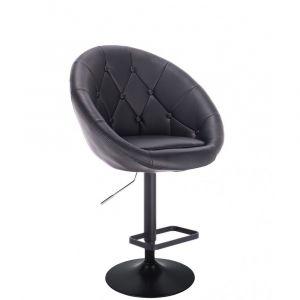 Barová židle VERA na černém talíři - černá
