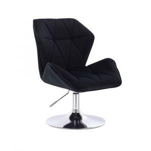 Židle MILANO MAX VELUR na stříbrném talíři - černá
