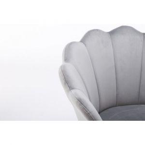Kosmetické křeslo FREY VELUR s černými nohami - světle šedé