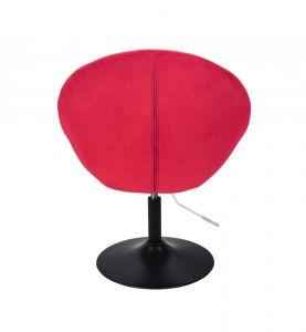 Křeslo VERA VELUR na černém talíři - červené