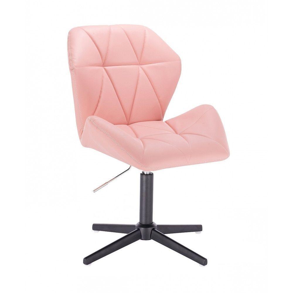 Židle MILANO MAX na černém kříži - růžová