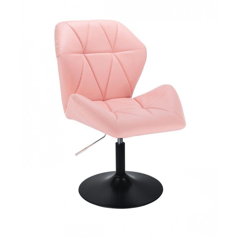 Židle MILANO MAX na černém talíři - růžová