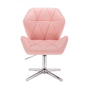 Židle MILANO MAX na stříbrném kříži - růžová