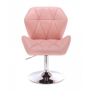 Židle MILANO MAX na stříbrném talíři - růžová