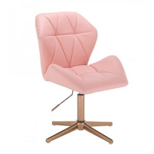 Židle MILANO MAX na zlatém kříži - růžová