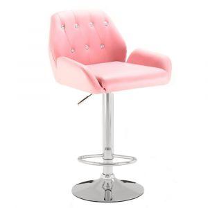Barová židle LION - růžová