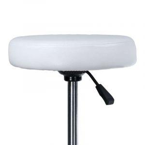 Taburet PING na podstavě s kolečky bílý