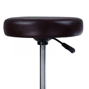 Taburet PING na podstavě s kolečky černý