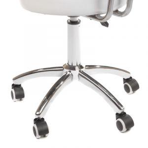 Židle BERGAMO na podstavě s kolečky bílá