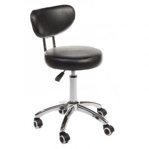 Židle BERGAMO na podstavě s kolečky černá