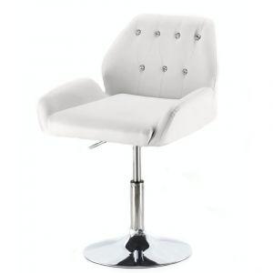 Židle LION na kulaté podstavě bílá
