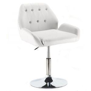 Židle LION na stříbrném talíři - bílá