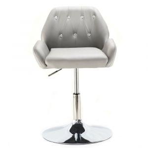 Židle LION na kulaté podstavě šedá (VPT)