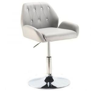 Židle LION na stříbrném talíři - šedá