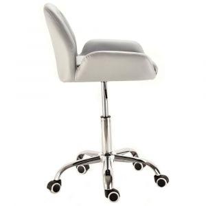 Židle LION na podstavě s kolečky šedá