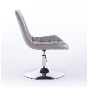 Židle PARIS na kulaté podstavě šedá