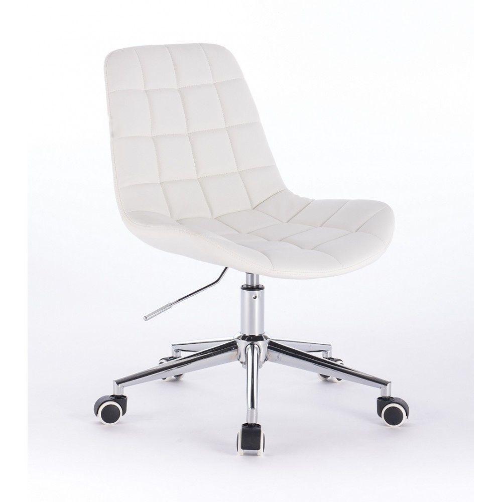 Židle PARIS na podstavě s kolečky bílá