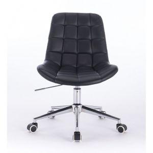 Židle PARIS na podstavě s kolečky černá