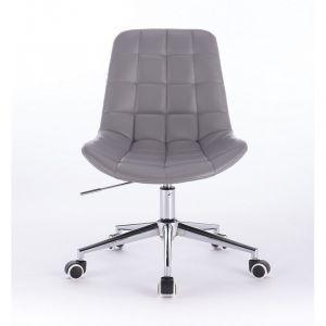 Židle PARIS na podstavě s kolečky šedá