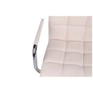 Židle VERONA na černé podstavě s kolečky - krémová
