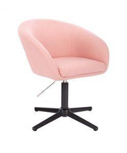 Židle VENICE na černém kříži - růžová