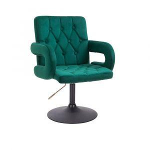 Židle BOSTON VELUR na černém talíři - zelená