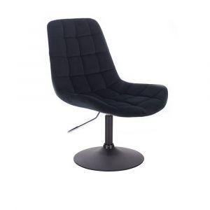 Židle PARIS VELUR na černém talíři - černá