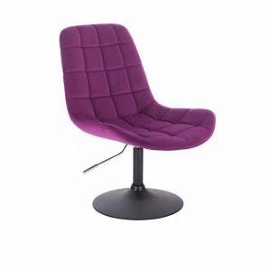 Židle PARIS VELUR na černém talíři - fuchsie