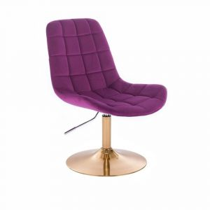 Židle PARIS VELUR na zlatém talíři - fuchsie