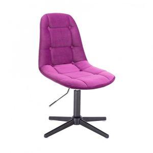 Židle SAMSON VELUR na černém kříži - fuchsie