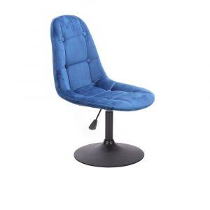Židle SAMSON VELUR na černém talíři - modrá