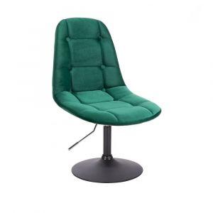 Židle SAMSON VELUR na černém talíři - zelená