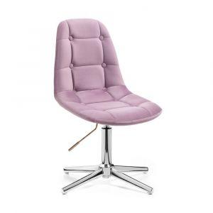 Židle SAMSON VELUR na stříbrném kříži - fialový vřes