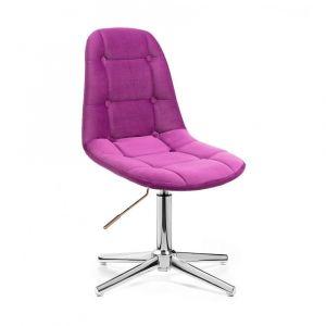 Židle SAMSON VELUR na stříbrném kříži - fuchsie