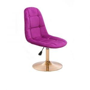 Židle SAMSON VELUR na zlatém talíři - fuchsie