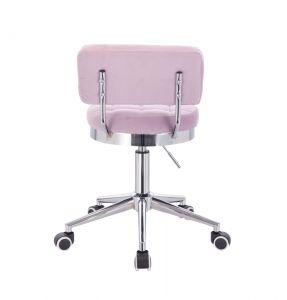 Židle VIGO VELUR na stříbrné základně s kolečky - fialový vřes