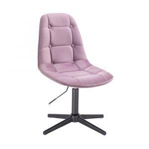 Kosmetická židle SAMSON VELUR na černém kříži - fialový vřes
