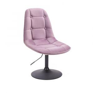 Kosmetická židle SAMSON VELUR na černém talíři - fialový vřes