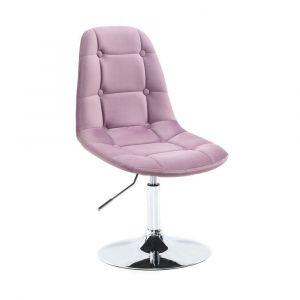 Kosmetická židle SAMSON VELUR na stříbrném talíři - fialový vřes