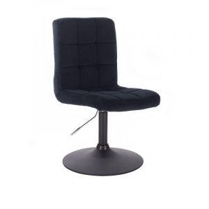 Kosmetická židle TOLEDO VELUR na černém talíři - černá