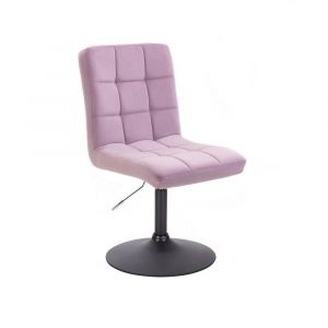 Kosmetická židle TOLEDO VELUR na černém talíři - fialový vřes