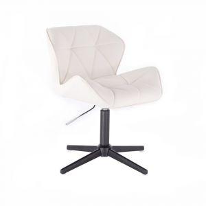 Židle MILANO na černém kříži - bílá