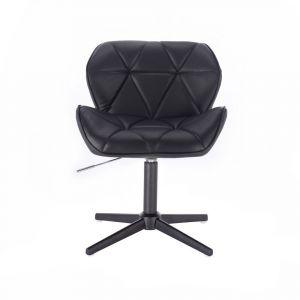 Židle MILANO na černém kříži - černá