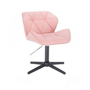 Židle MILANO na černém kříži - růžová