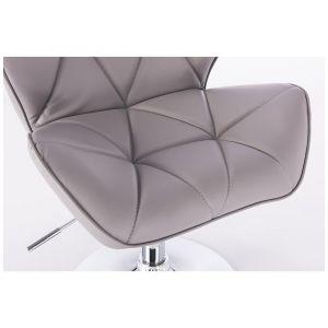Židle MILANO na černém kříži - šedá