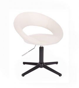 Židle NAPOLI na černém kříži - bílá