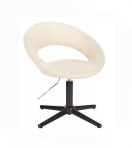 Židle NAPOLI na černém kříži - krémová