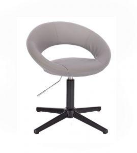 Židle NAPOLI na černém kříži - šedá