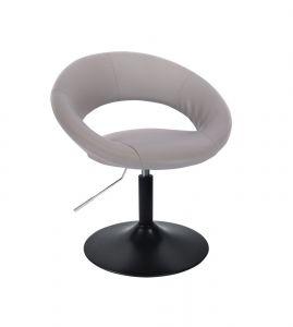 Židle NAPOLI na černém talíři - šedá